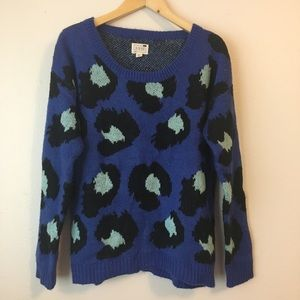 LA Hearts Cheetah Print Crewneck Sweater